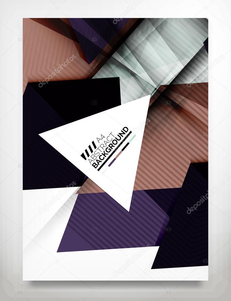 Flyer, Broschüre Design-Vorlage — Stockvektor © akomov #64807101