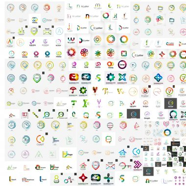 Vector abstract company logos mega collection