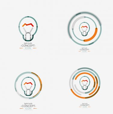 Light bulb minimal design logo