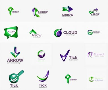 Set of universal company logo ideas,