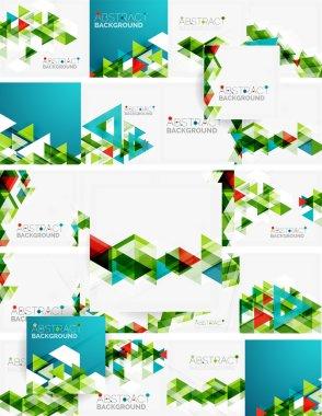 """Картина, постер, плакат, фотообои """"абстрактный геометрический фон. современные пересекающиеся треугольники абстракция"""", артикул 76614593"""