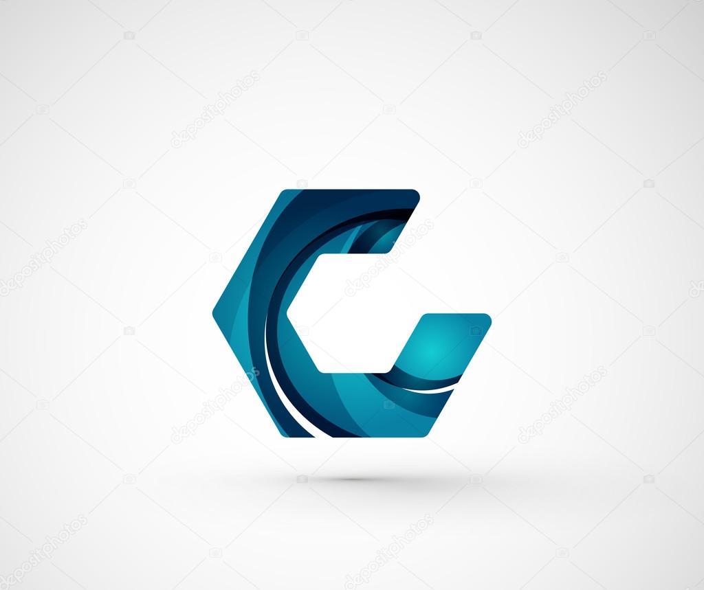 Abstract Geometric Company Logo Hexagon Shape Stock