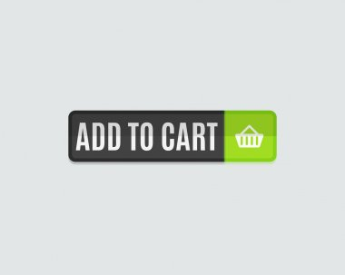 Add to cart web button, online shopping, flat design