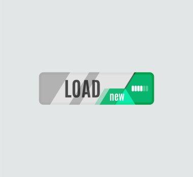 Load button, futuristic hi-tech UI design