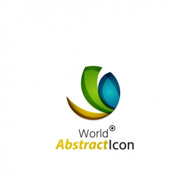Abstract geometric business corporate emblem