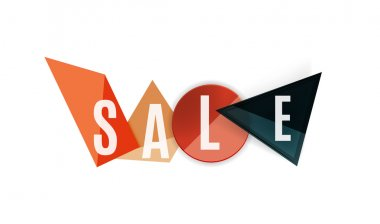 Sale word label banner