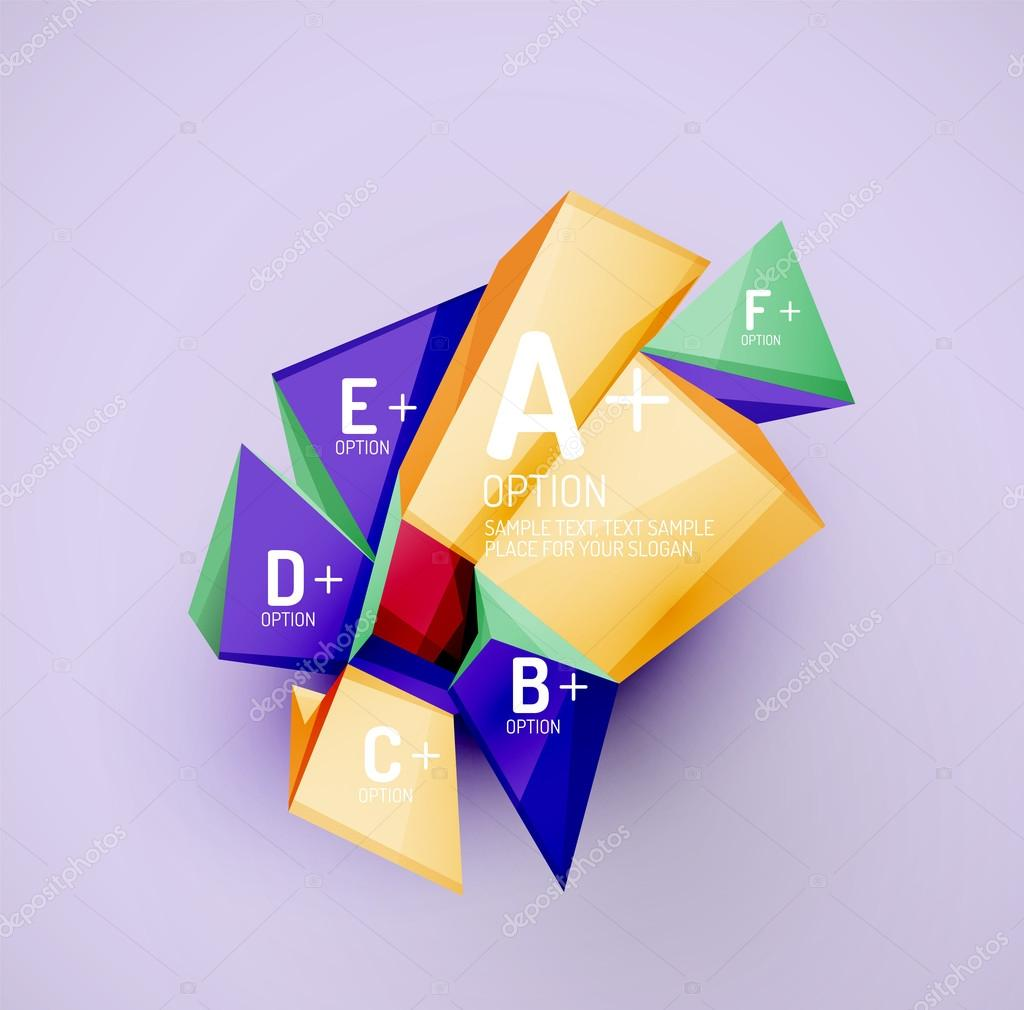 Geometric shapes with sample text  Abstract template — Stock