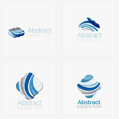 Circle abstract shape logo