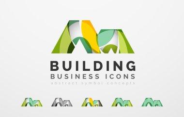 Set of real estate or building logo