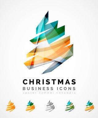 Set of abstract Christmas Tree Icons