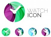 Set of abstract watch icon