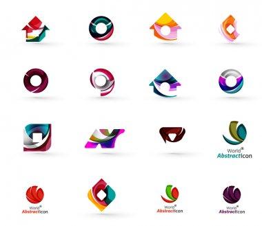 Set of various geometric icons
