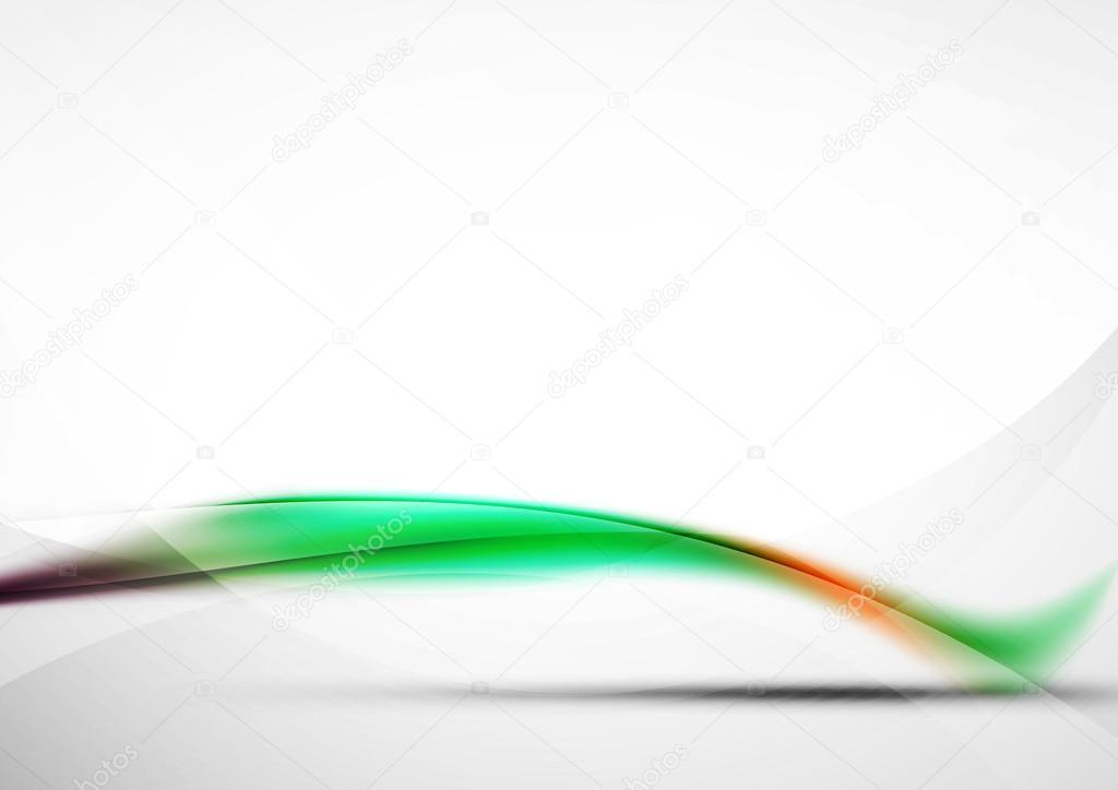 Sfondo Astratto Onda Verde Modello Di Presentazione Hi Tech Di