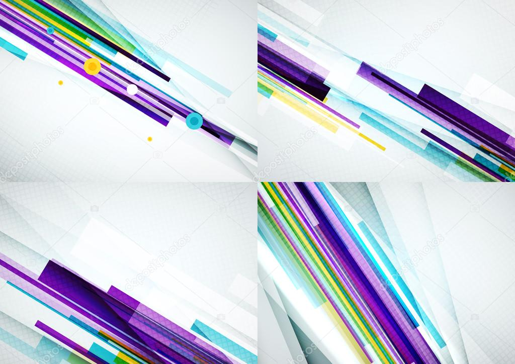 Set of straight lines design abstract backgrounds
