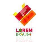 Logo, abstraktní geometrická obchodu ikon