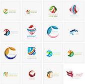 Sada prvků abstraktního vlnité. Kruhy, víry a vlny s copyspace pro vaši zprávu