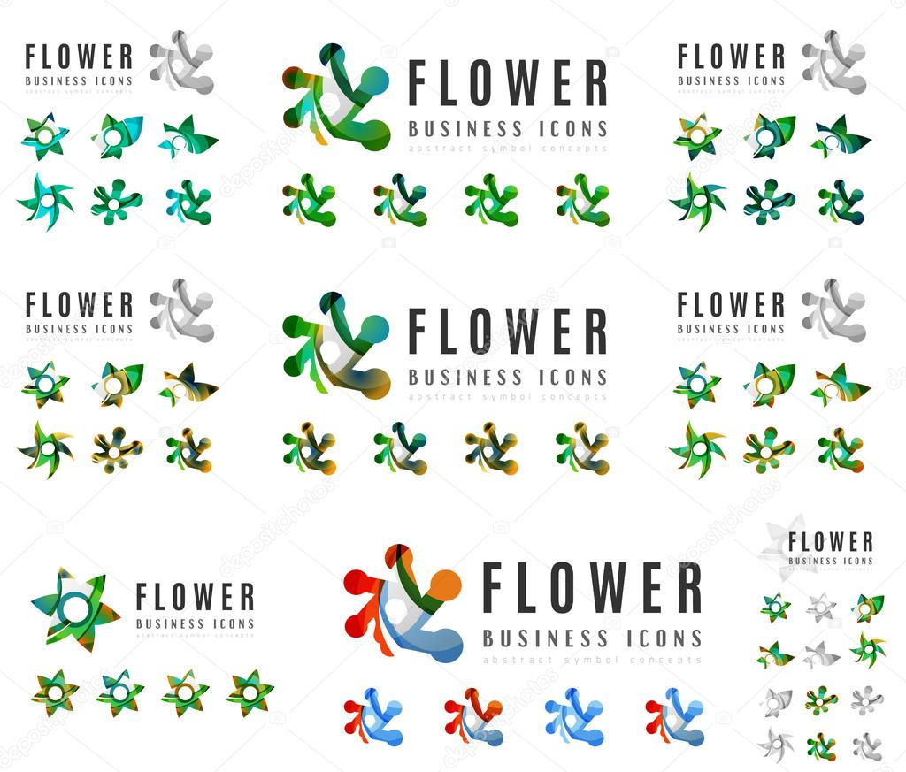 flower blooming concept icons