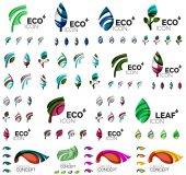 Mega sbírka vektorové zelené letní pojmů - listy skladby, rostliny
