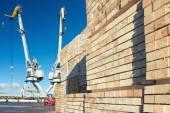 Fa blokkok a terhelés a Kikötői daruk