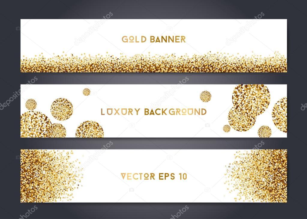 Abstrakt gold Banner-Vorlagen — Stockvektor © mooo #113248594
