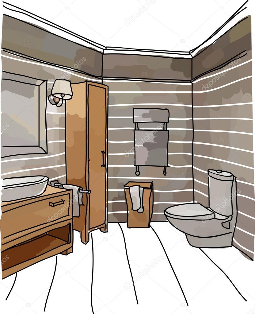 Роскошный интерьер — Вектор: изображение, рисунок © mooo ...  Простой Интерьер Рисунок