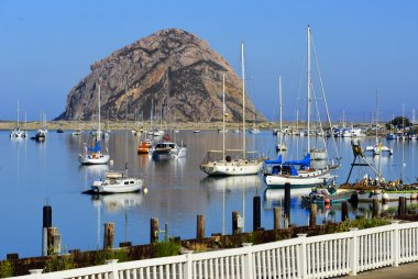 Morro Bay Harbor and The Rock, California