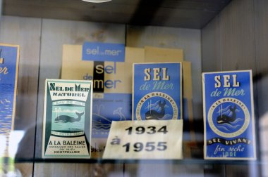 Showcase the collection of packaging of sea salt