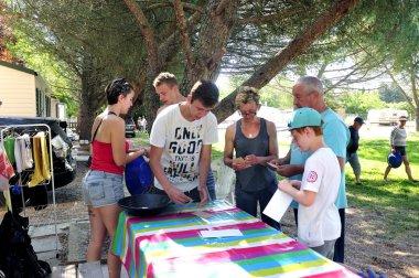 Treasure hunt organized in a French campsite