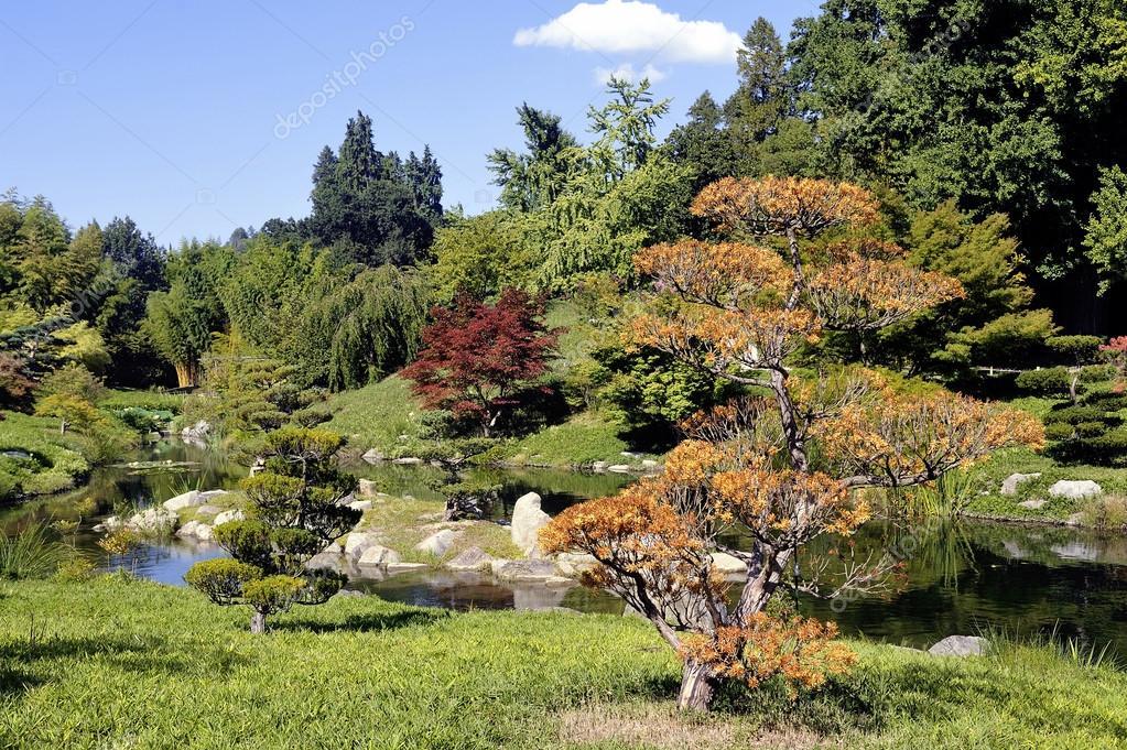 Japanischer Garten Park Anduze Bambus Stockfoto C Gilles Paire
