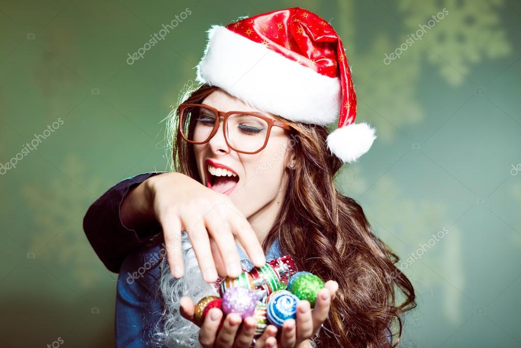 girl in glasses biting intruders hand