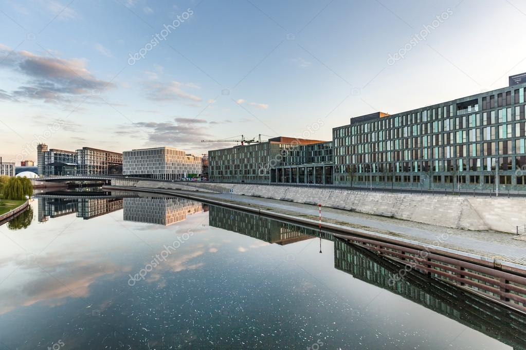 River Spree and office building of the German Parliament in Berl