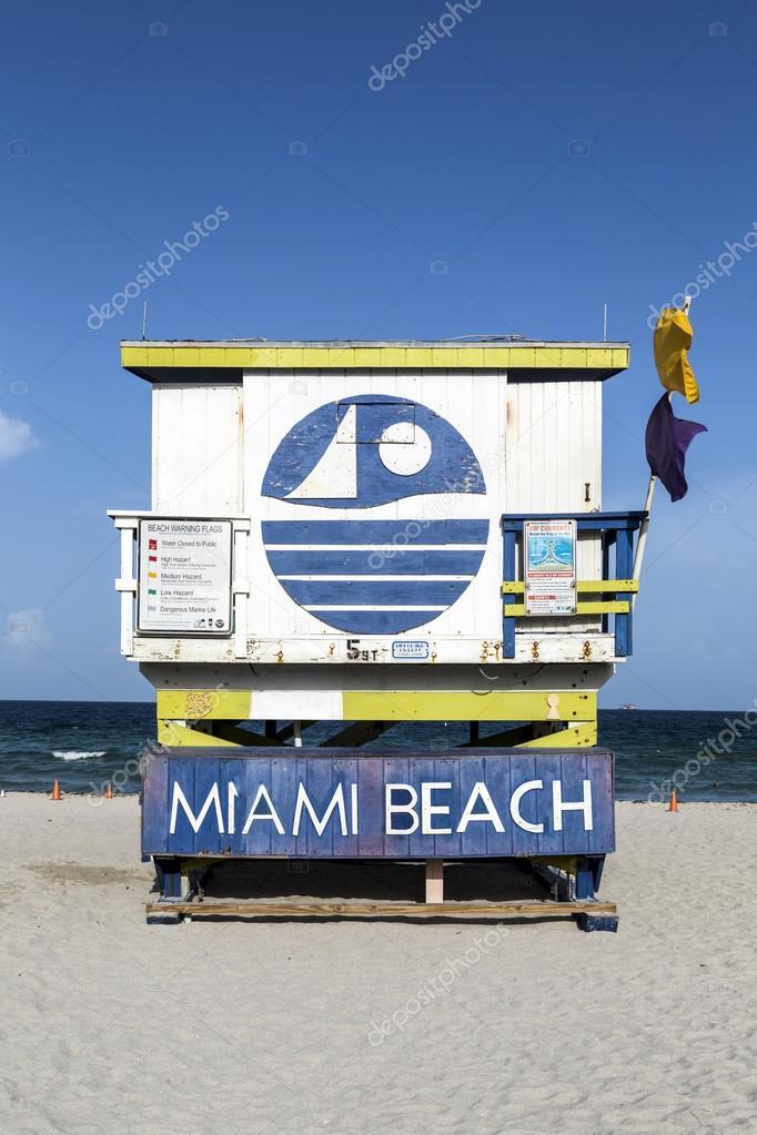 life guard sign miami beach sign on lifeguard hut stock photo hackman 53197007