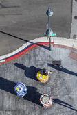 Letecký pohled na křížení Commerce řádek s Carson Reno Highway wi