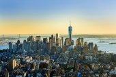odlesky panorama pohled z New Yorku