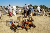 people at central market in Axum, Ethiopia