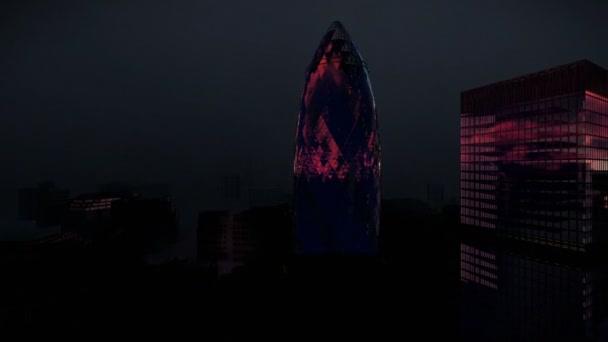 Google Hoofdkwartier Londen : Londen in nacht met stormachtige bliksemschichten swiss reinsurance