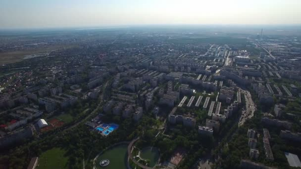Aerial view of Bucharest, Moghioros park, Romania