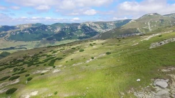 Aerial view of Bucegi mountains, Romania