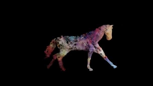 Ló készült égi csillagok fut, zökkenőmentes hurok, Luma Matte csatolt