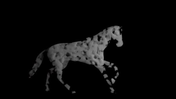 Statikus füstből készült ló, zökkenőmentes hurok, Luma Matte csatlakoztatva