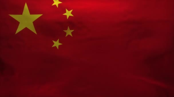 China Flag being Ripped to reveal blood flow infected with Coronavirus CoVid-19