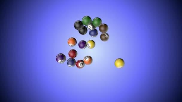 Lotto míč letí, 16 kuliček proti světle modrá