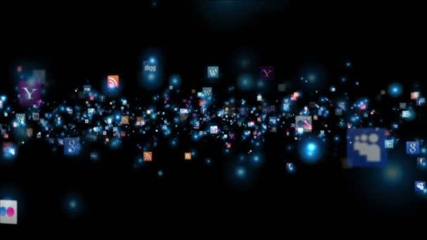 Sociální sítě ikony animace