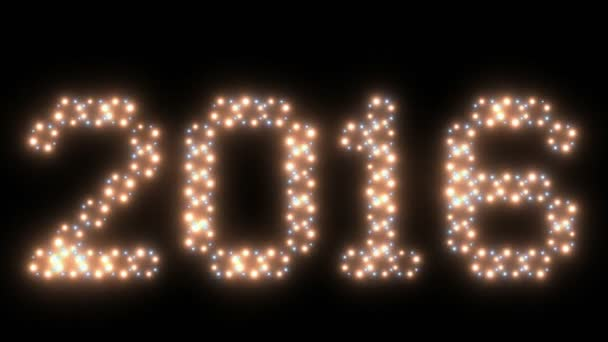 New Year, 2016text, animated lights