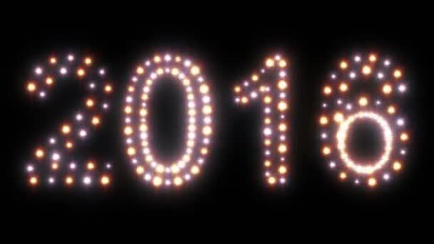 Nový rok 2016 animovaný světla