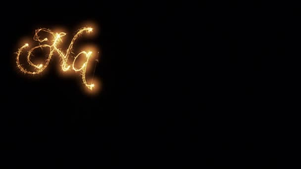 Glowing sparkles writting happy new year