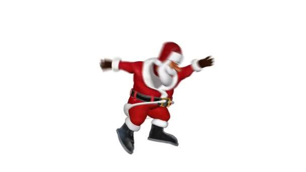 Santa na lyžích, gymnastických pohybů, proti bílé