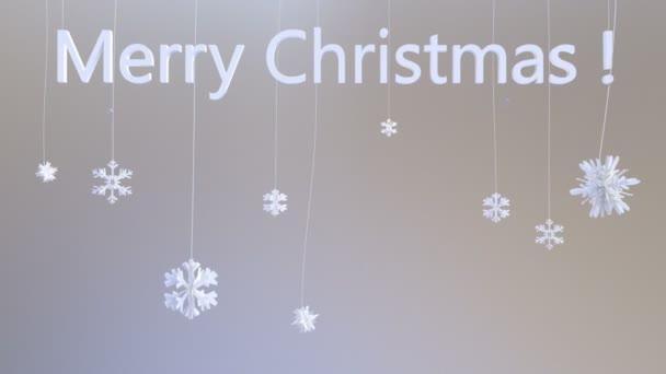 Vločky na řetězce s názvem Veselé Vánoce