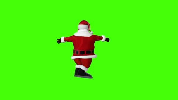 Santa rotující šťastný, Chroma Key