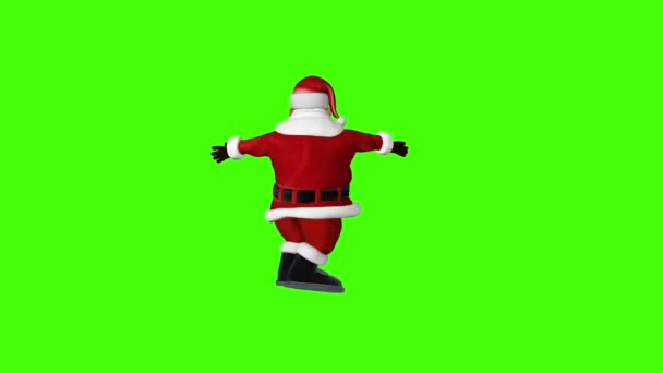 Santa drehen fröhlich, Chroma-Key